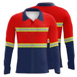 Sublimated Cotton Drill Workwear Shirt 003 - Custom Made Uniforms