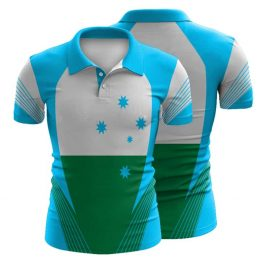 Sublimated Swimming Polo Shirt 001 - Custom Made Uniforms